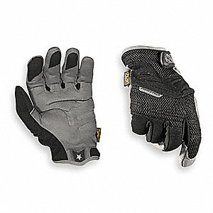 Anti-Vibration Gloves, Clarino  Dura Fit™ Synthetic Leather Palm Material, Black, 1 PR
