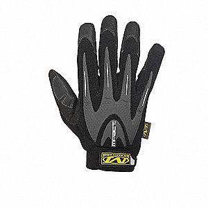 Anti-Vibration Gloves, Spandex Palm Material, Black, L, PR 1