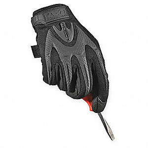 Anti-Vibration Gloves, Spandex Palm Material, Covert Black, L, PR 1
