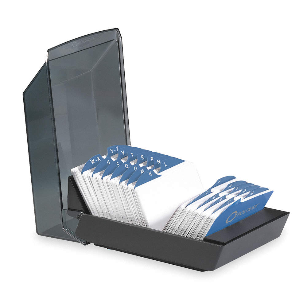 ROLODEX Business Card File Tray, 500 Ct, Plastic - 2NRL1|67011 ...