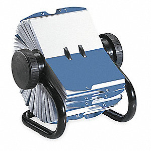 Rotary Card File,  200 Ct,  Metal