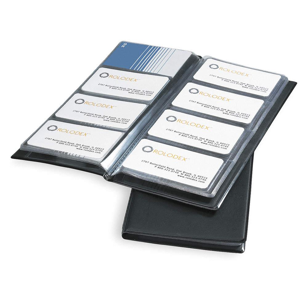 ROLODEX Business Card Book, 96 Ct, Vinyl - 2NRL5|67467 - Grainger