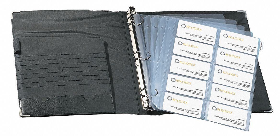 ROLODEX Business Card Binder RefillsClearPK15 2NRN167696 Grainger