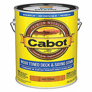 Flat Clear and Translucent Coating for Wood, Cedar, 1 gal.