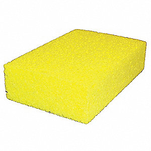 "4-3/16"" x 6"" Cellulose Sponge, Yellow, 1EA"