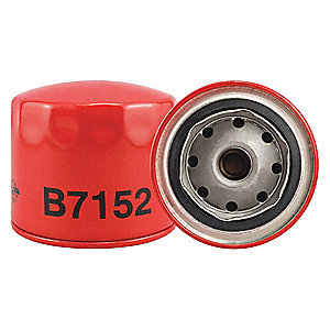 "Spin-On Oil Filter, Length: 3-1/4"", Outside Dia.: 3-11/16"", Micron Rating: 18"