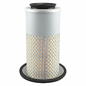 "Air Filter, Round, 9-3/32"" Height, 9-3/32"" Length, 4-1/4"", Flange 6-3/32"" Outside Dia."