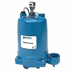 3/4 HP Submersible Effluent Pump, No Switch Included Switch Type