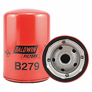 "Spin-On Oil Filter, Length: 5-11/32"", Outside Dia.: 3-11/16"", Micron Rating: 9.8"