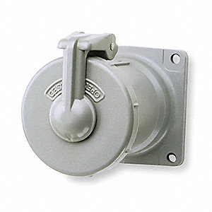 Pin and Sleeve Receptacle, 600VAC/250VDC Voltage, 100 Amps, Number of Poles: 3, Number of Wires: 3