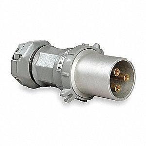 Pin and Sleeve Plug, 600VAC/250VDC Voltage, 200 Amps, Number of Poles: 3, Number of Wires: 3