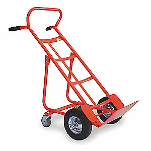 Four Wheel Ergonomic Hand Truck, Dual, 800 lb. Overall Height 48""