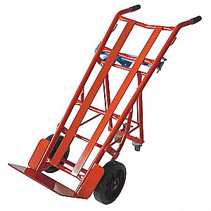 2-Position Hand Truck, Dual, 1000 lb., Overall Height 51-1/2""
