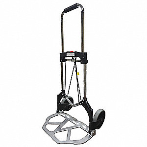 "Folding Hand Truck, Straight Bar, 225 lb., Overall Width 19-1/4"", Overall Height 39"""