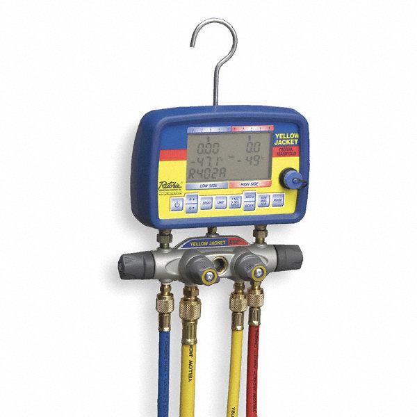 Yellow Jacket Digital Manifold Gauge Amp Hose Set 22 Ref