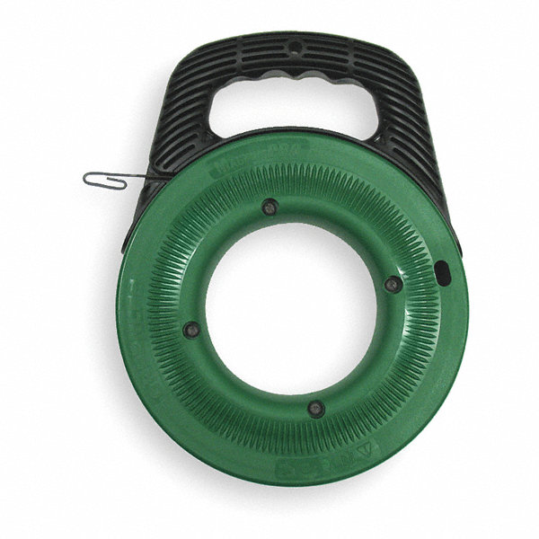 Greenlee 65 ft steel fish tape 2nxe7 fts438 65 grainger for Greenlee fish tape