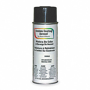 Custom Coating Spray Paint in Semi-Gloss Black for Metal, 12 oz.