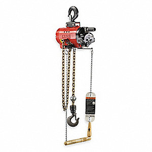 Air Chain Hoist,4400 lb. Cap.,10 ft. Lft