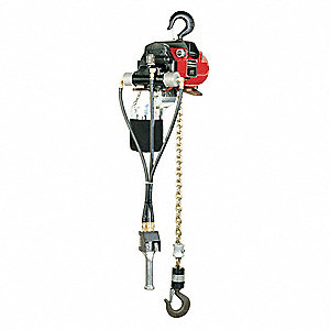 Air Chain Hoist,2200 lb. Cap.,10 ft. Lft