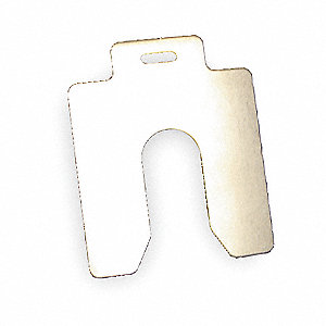 Slotted Shim,B-3x3 Inx0.125In,PK5