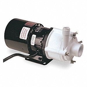 1/12 HP Polypropylene 115V Magnetic Drive Pump, 21.9 ft. Max. Head