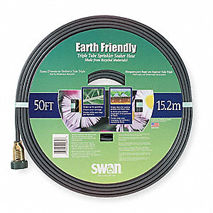 50 ft. dia. Soaker/Sprinkler Hose, 40 psi, Gray