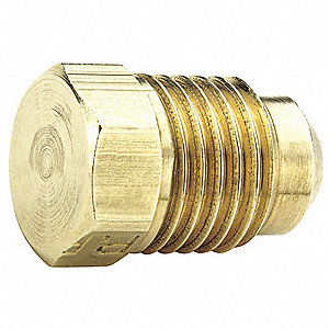 "Plug, Flare Connection Type, 1/4"" Tube Size, 10PK"