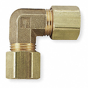 "Brass Compression Union Elbow, 1/2"" Tube Size"