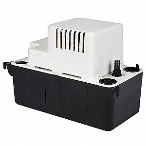 "1/50 HP Condensate Removal Pump, Medium Reservoir, 120VAC, 3/8""  Barb Discharge Size"