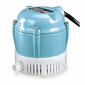 1/200 HP Compact Submersible Pump, 115V Voltage, Continuous Duty, 18 ft. Cord Length