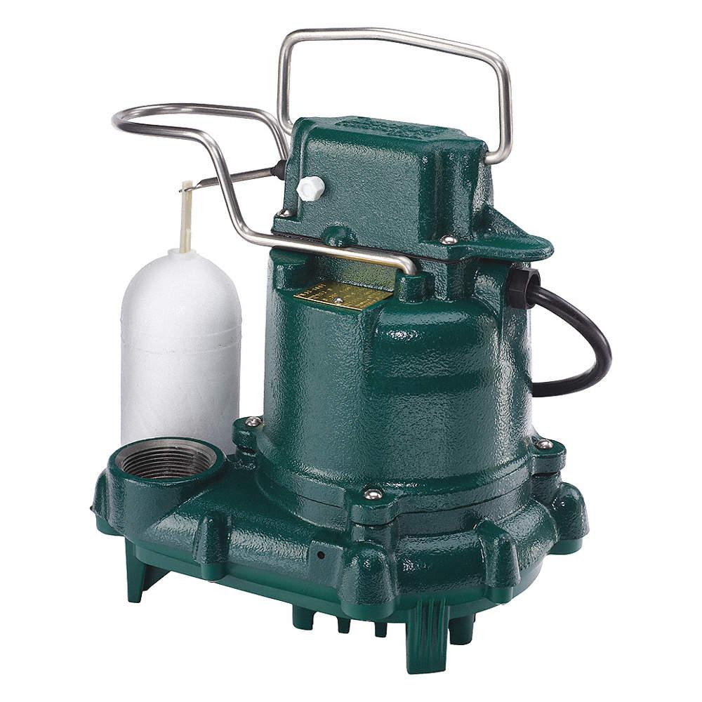 ZOELLER Submersible Sump Pump, 3/10 HP, Cast Iron, 115V AC, Vertical Float  - 2P549|M57 - Grainger
