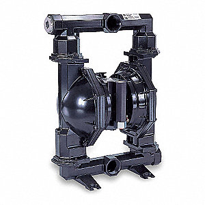 Cast-Iron Santoprene® Single Double Diaphragm Pump, 90 gpm, 120 psi