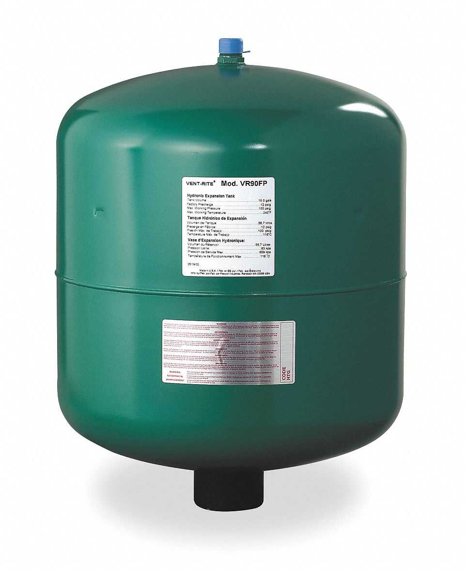 FLEXCON 15.0 gal. Expansion Tank, High Temperature Hydronic Type ...