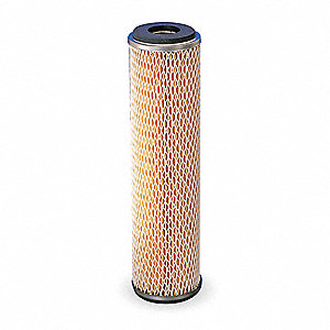 Pleated Filter Cartridge, 20 Microns, Phenolic Impregnated Cellulose/ ETP Steel Core Filter Media, 5