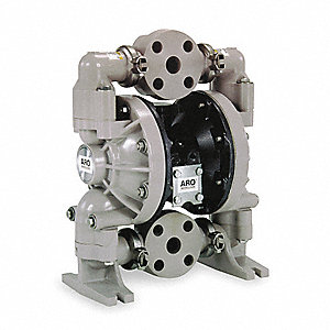 Polypropylene PTFE Flanged Double Diaphragm Pump, 47 gpm, 120 psi