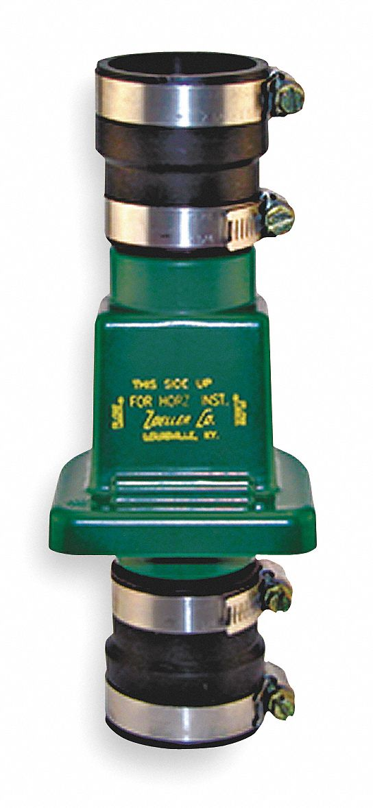 Check Valve,  1 1/4 in or 1 1/2 in,  Single,  Inline Swing,  PVC,  Clamp x Clamp