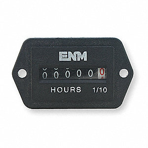 Hour Meter, 240VAC Operating Voltage, Number of Digits: 6, Rectangular Bezel Face Shape