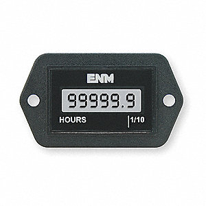 HOUR METER,LCD,2-HOLE RECTANGULAR