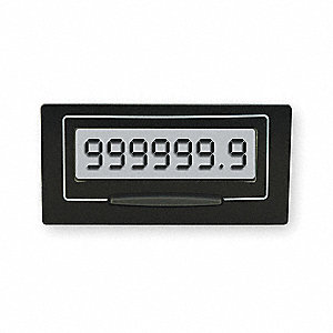 Hour Meter, Number of Digits: 7, Rectangular Bezel Face Shape
