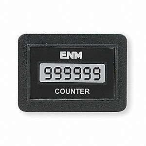 Electronic Counter, Number of Digits: 6, LCD Display, Max. Counts per Second: 50