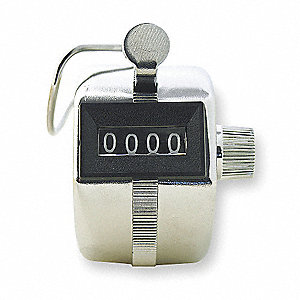 Counter,Mechanical,4 Digit,Hand Tally