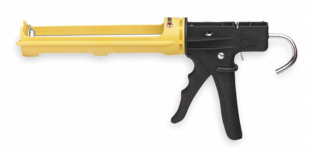 DRIPLESS Caulk Gun,Bulk Loader,30 oz.,Metal WL9907500 Gold