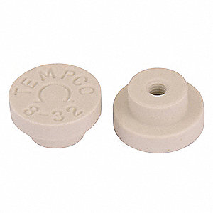 Ceramic Terminal Caps,10-32 Threads,PK10