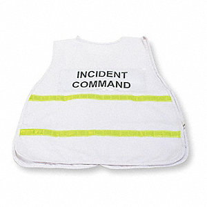 Safety Vest,Incident,Polyester,White