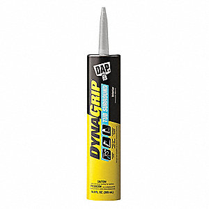 Clear 10.3 oz. Construction Adhesive, 20 min. Curing Time, 1 EA