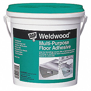 Off White 1 gal. Flooring Adhesive, 20 to 40 min. Curing Time, 1 EA
