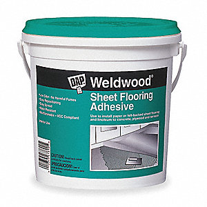Off White 1 gal. Flooring Adhesive, 40 min. Curing Time, 1 EA