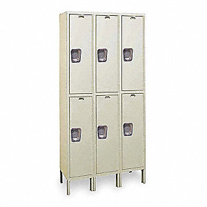 "Wardrobe Locker, Unassembled, Two Tier, 45"" Overall Width"