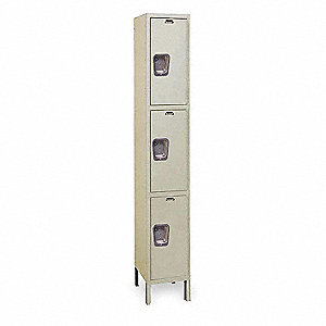 Wrdrb Lockr,Solid,1 Wide, 3 Tier,Prchmn