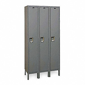 Wardrobe Lockr,Solid,3 Wide, 1 Tier,Gray